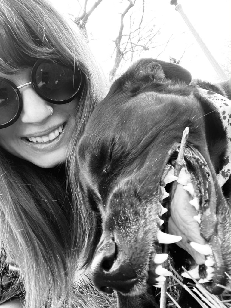 Credico Senior Compliance Manager Erica with her pup, Sadie